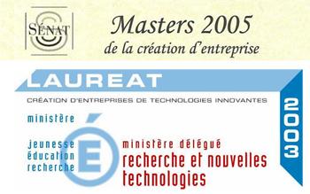 Novaxion Oléiculture encouragée par l'ANVAR et Masters de la création d'entreprise 2005.